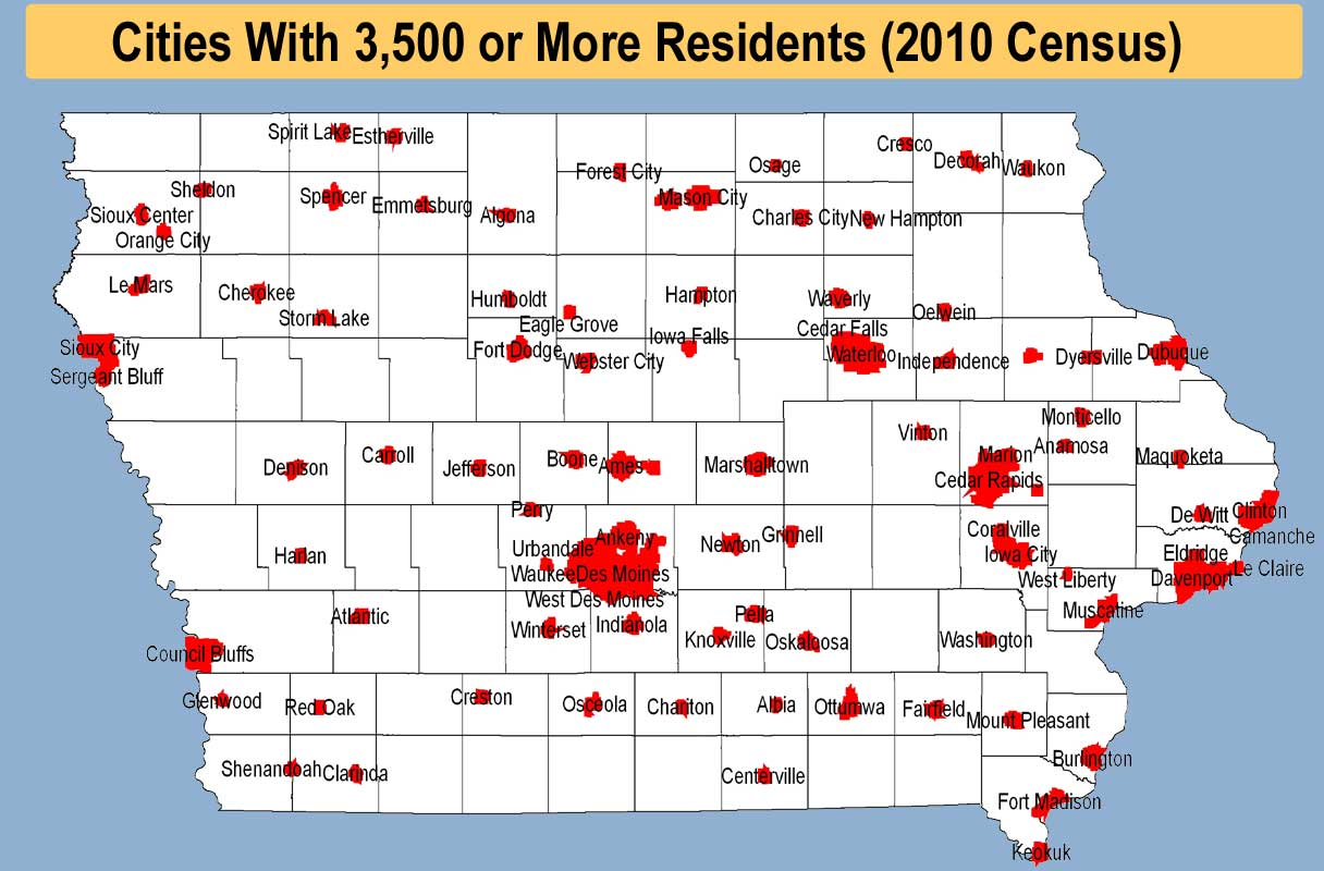State Of Iowa Map With Cities.Redistricting Cities